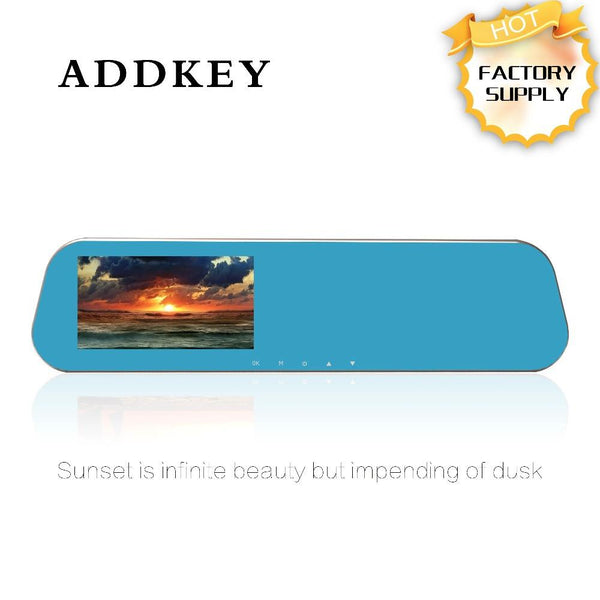 ADDKEY 2248 car DVR camera rearview mirror auto dvrs dual lens dash cam video registrator camcorder Full HD 1080p night vision