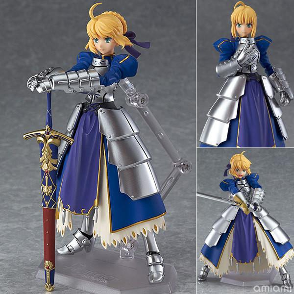 Anime Fate stay night Figma227 Ubw Zero Saber Knight Girl Arthur PVC Action Figure Collection Model Toys Doll 15cm SA447
