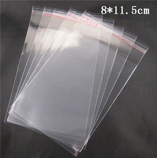 Approx 8*11.5cm Clear Self Adhesive Seal Plastic Bags Storage bag 100pcs lot 19010007(8*11.5D100)