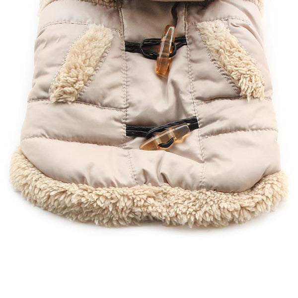 Armi store Button Fashion Warm Dog Coat Dogs Winter Hat Coats Jackets 6141032 Pet Clothes Supplies
