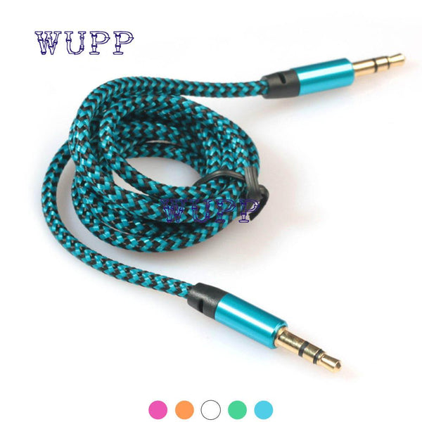 AUTO 2016 Top quality Aux Stereo 3.5mm 1 m Car Male to M AUX AUXILIARY sound Stereo Audio Data Cable MP3 Au 24
