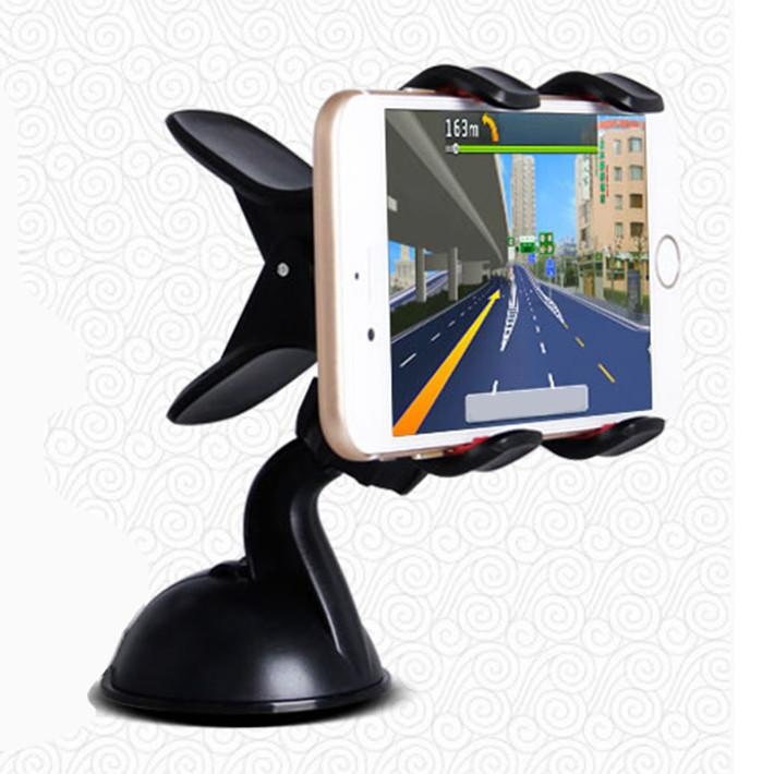 Auto Car Windshield Dual Clip Mount 360 Degrees Mobile Phone Holder Stand Bracket For iPhone4S 5S 6 6Plus Samsung Galaxy S4 S5