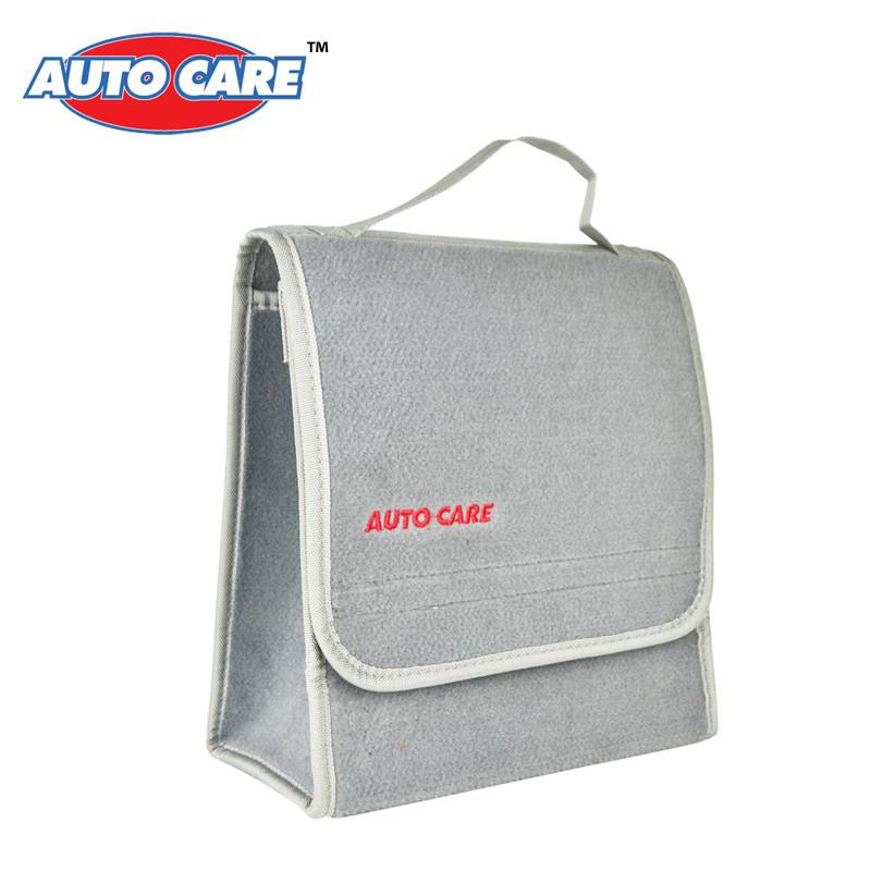 Auto Care Small Car Smart Tool Organizer Bag Grey Car Trunk Organiser Built in strong Velcrofix system holds to car carpet