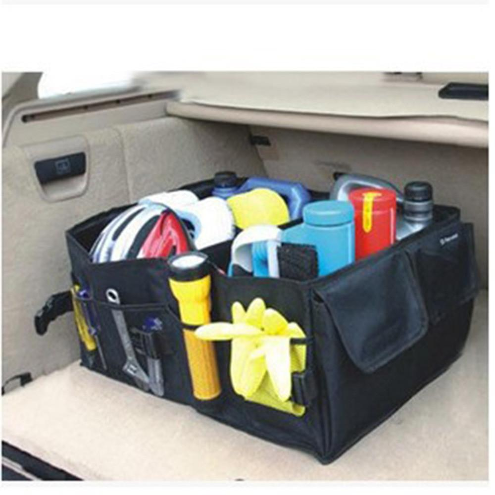 Auto Supplies Car Back Folding Storage Box Multi-Use Tools Organizer Car Portable Storage Bags Black car cover