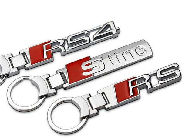 Automobile sline rs rs4 car styling logo key ring chain rings chains keyring keychain keyrings keychains