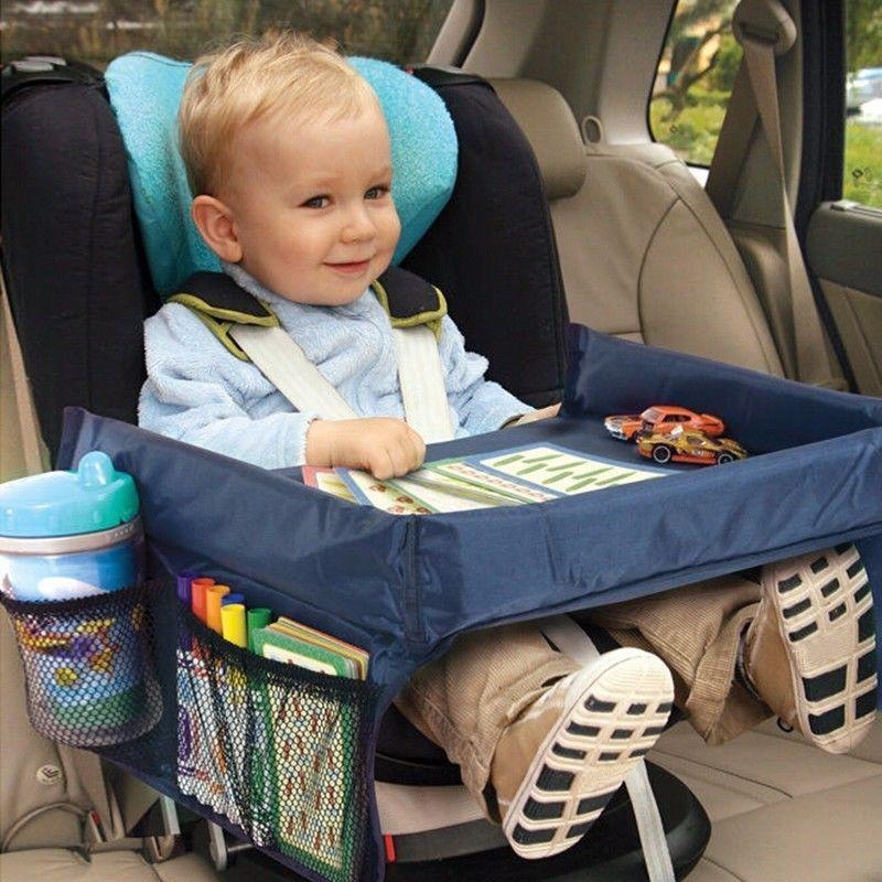 AUTOSON Child Car Seat Tray Waterproof Storage Children Toy Holder Tray Desk Infant Stroller Board Table Child Car Seat Tray