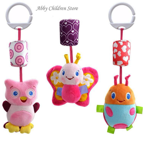 Baby Crib Stroller Toy 0-12 months Plush Owl Butterfly Ladybug Musical Infant born Hanging Baby Rattle Soft Playpen Bed Pram