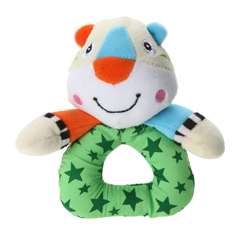 Baby Handbell Kids Infant Plush Handbells Toys Little Bear Mouse Tiger Shape Soft Plush Developmental Toys Stuffed Animals
