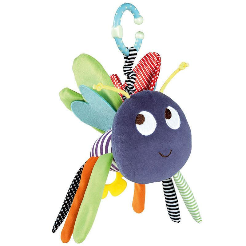 Baby Soft Bee Plush Toy Teether Colorful Stroller Crib Bed Hanging Ring Bell Baby Rattle Educational Doll brinquedos juguetes