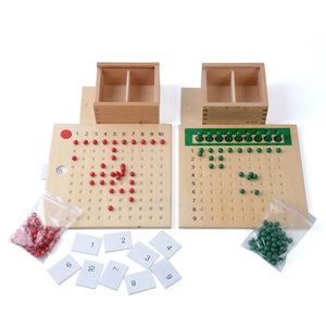 Baby Toy Montessori Multiplication Bead Board and Division Bead Board for Early Childhood Education Preschool Training Toys