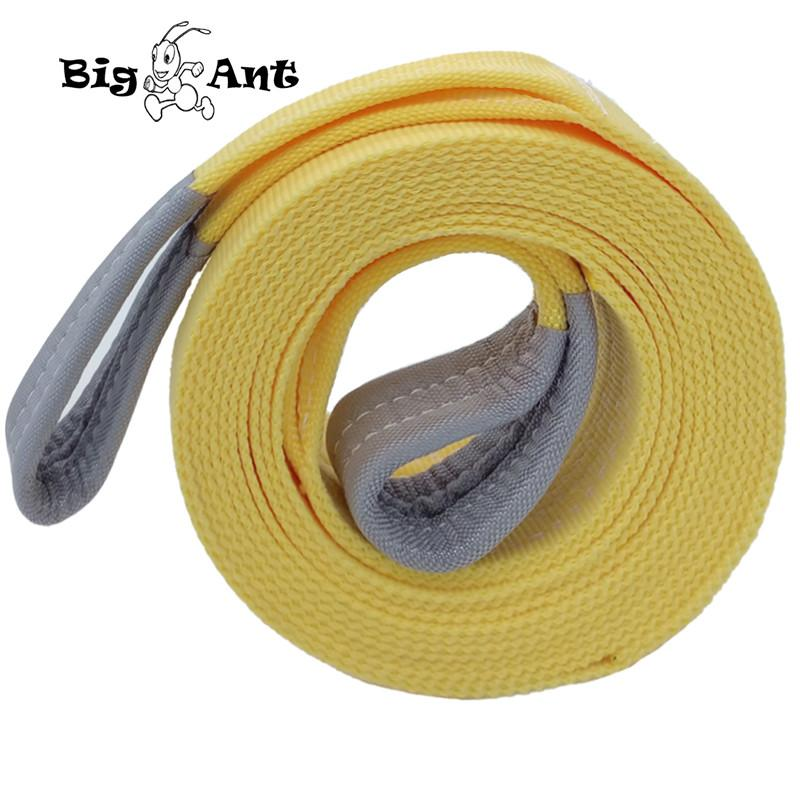 "Big Ant Nylon Recovery tow Strap rope11023-17636 Lb Capacity Emergency Heavy Duty Towing Ropes(2.95"" x 19.68')"