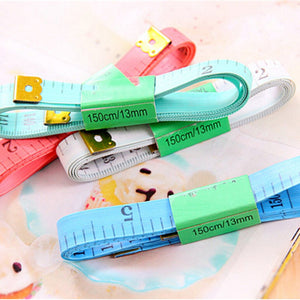 Big Body Measuring Ruler Sewing Tailor Tape Measure Soft 60 Inch 1.5M Sewing Ruler Meter Sewing Measuring Tape Random Color