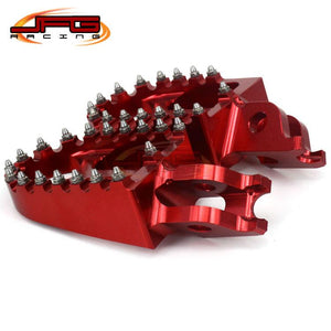 Billet CNC MX Wide Foot Pegs Pedals Rests CR CRF CR125 CR250 CR500 CRF250 CRF450 Motocross Enduro Supermotard