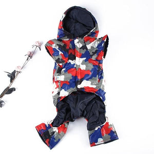 Camouflage Clothes Pet Thick Dog Down Coat Winter Puppy Outwear Jacket Jumpsuit HH1