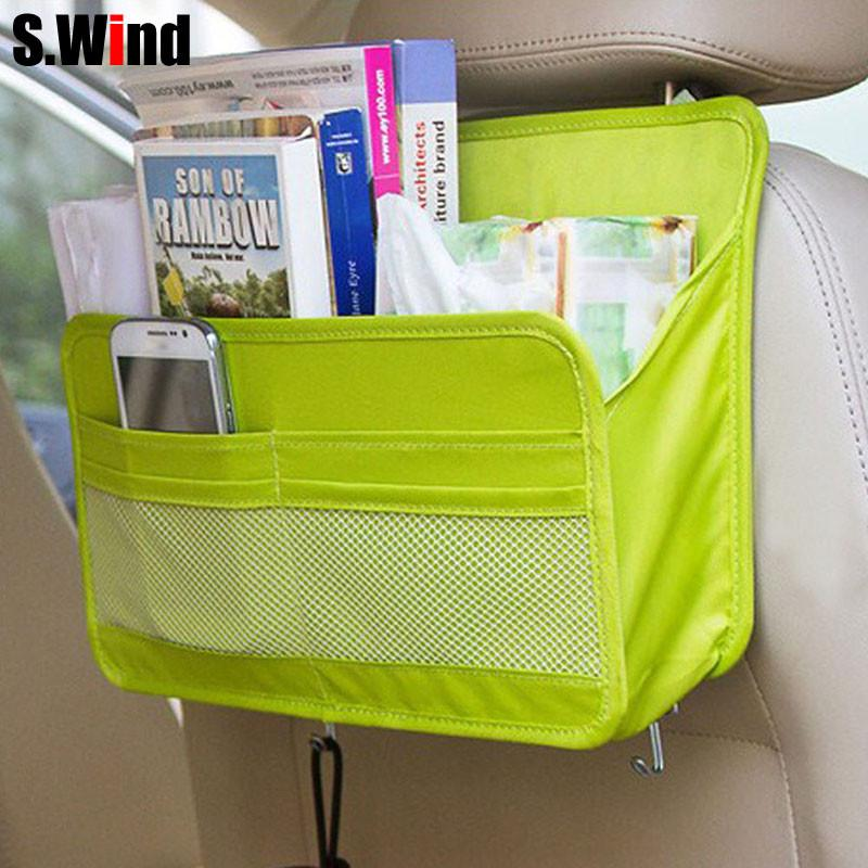 car organizer Auto Seat Back Storage Bag Multi Functional Travel Organizer Pocket Bag Hanging Backseat Organizing Box for book