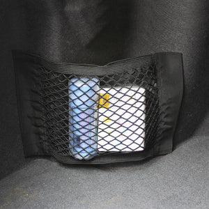 Car Rear Trunk Seat Elastic String Storage Mesh Net Bag Luggage Holder Pocket Sticker Trunk Organizer