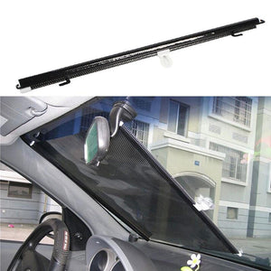 Car Window Retractable Sunshade windshield sunshade Auto Curtain Shade Cover Sun Shield Visor Sun-shading Curtain Black 125x58cm