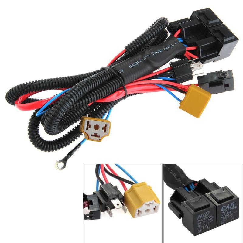 CARCHET H4 9003 Headlight Booster Wire Harness Connector Relay Fuse Socket Black H4 Headlight Connector Fuse Socket