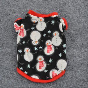 Christmas clothing for small dogs Pet Puppy Snowman Warm Pullover High-grade Embroidered Clothes ropa para perros chihuahua