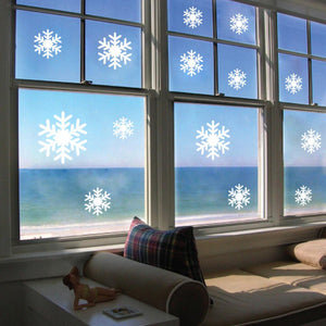 Christmas white Snowflakes Sticker Windows Glass cabinet Wall stickers Year home decoration Wall Stickers Wallpaper