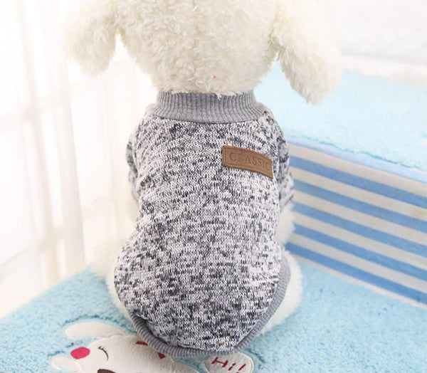 Classic Winter Warm Dog Clothes Puppy Pet Cat Jacket Coat Fashion Soft Sweater Clothing For Chihuahua Yorkie 9 Colors XS-2XL