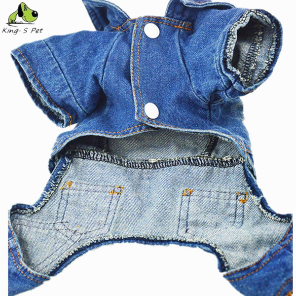 Cowboy Jean Dog Clothes All Seasons Clothing For Dogs Pet Clothing Solid Coat Jacket Cat Warm Coats Top Quality