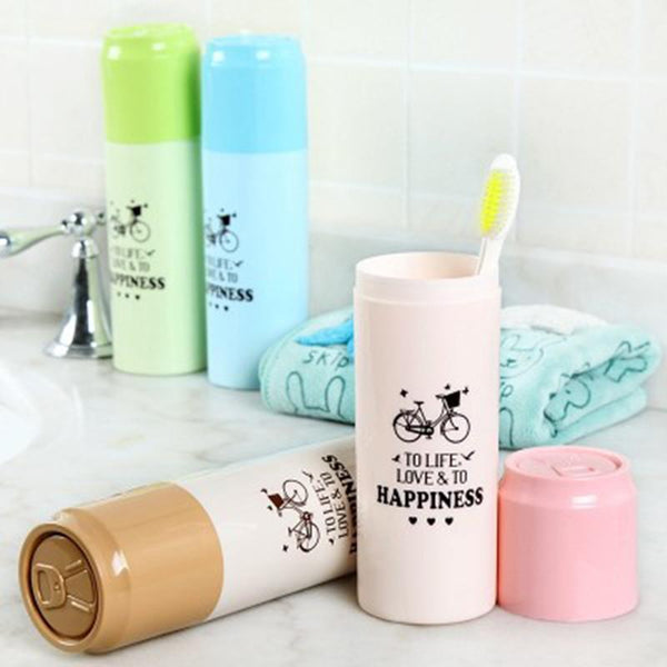 Creative Cans Design Travel Camping Toothbrush Holder Protect Brush Cap Clean Box Case Cover Cup For Bath Travel Accessories Set
