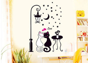 Creative Cat lovers Wall Art Decal Sticker Removable Mural Home Decor