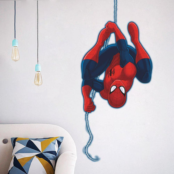 cute cartoon spiderman wall stickers for kids rooms decals home decor Nursery 3D for Boy christmas decoration