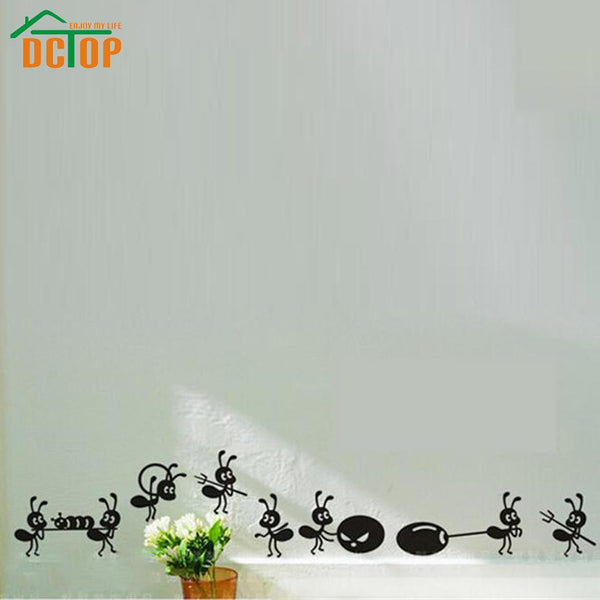 DCTOP 8 Ants Move House Funny Wall Stickers Home Decor Creative Stickers Adhesive Vinyl Wall Decals Kitchen Decoration