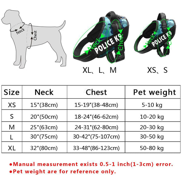 Didog Reflective Service Dog Harnesses K9 Harness Pet Training Vest With Quick Control Handle For Small Medium Large Dogs