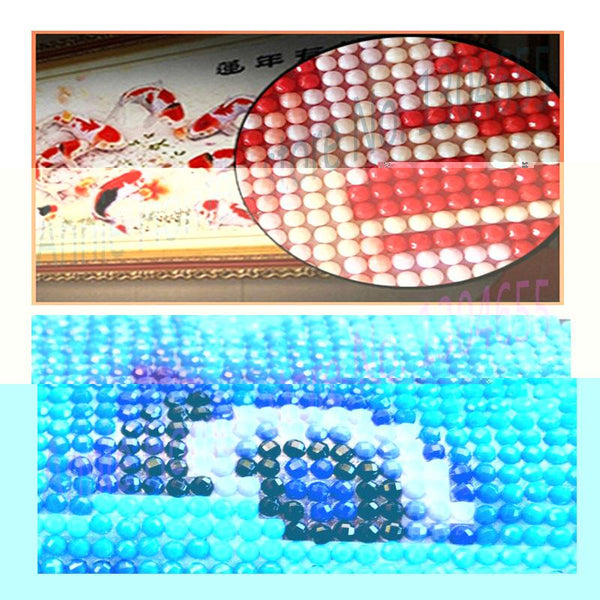 DIY 5D Diamond Embroidery Cross Stitch Beautiful Tulips Flowers Round Full Diamond Mosaic Picture Pasted Needlework Decor CJ140