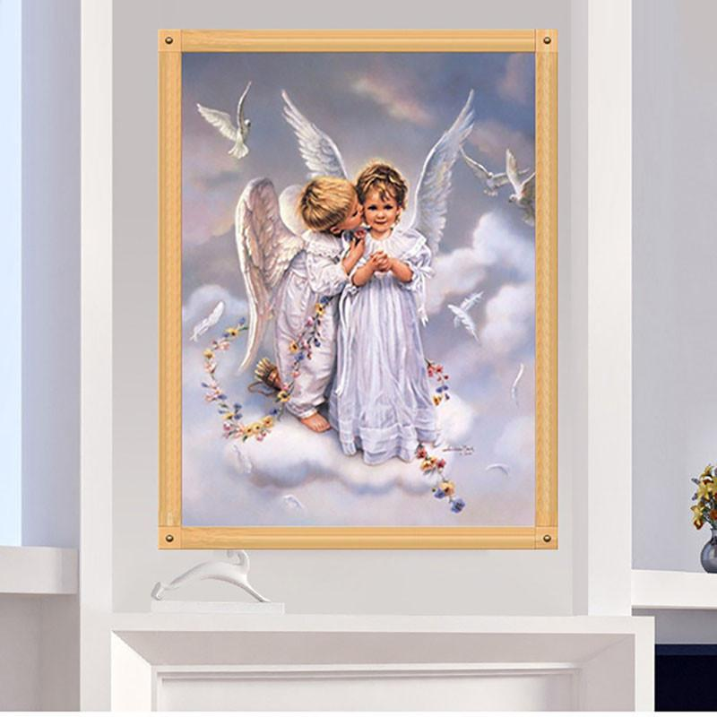 DIY 5D Embroidery Painting Cross Stitch Needlework Angels Mosaic Home Decor 36cm*30cm -Y102