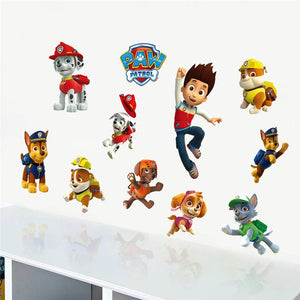 Diy American Cartoon Animal Smart Dog Boy Wall Sticker For Kids Rooms Decorative Baby Children Bedroom Nursery Suitcase Decal
