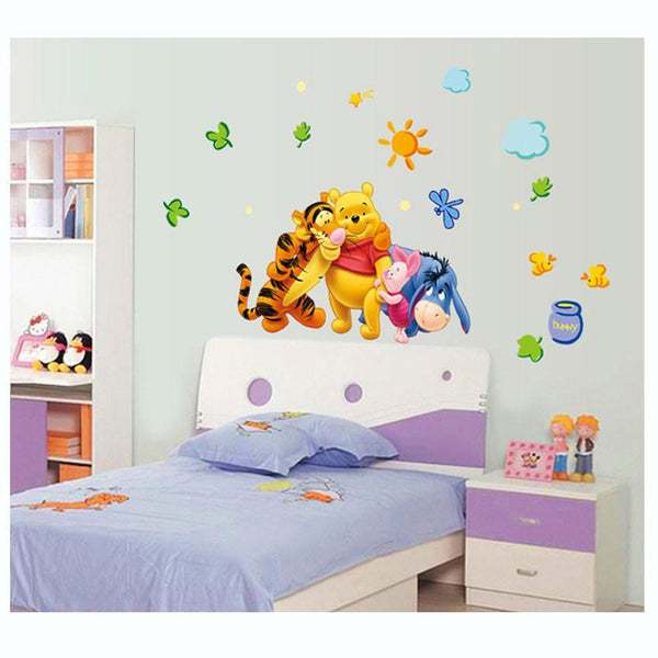 DIY Home Decors Winnie the Pooh Friends Wall Stickers for Nursery Kids Rooms Adesivo de Parede Removable Vinyl Wall Decals