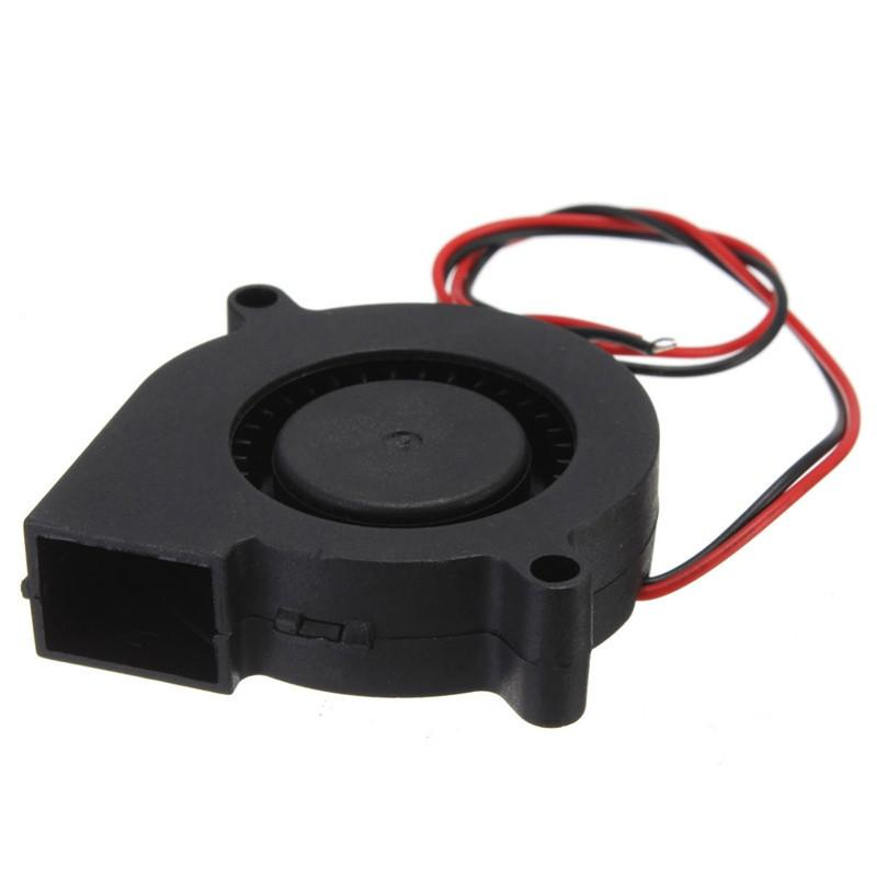 Double 12v Dc 50mm Blow Radial Cooling Fan For Electronic Diy 3d Printer Sleeve Bearing Long Life Low Noisy