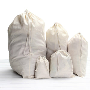 Drawstring Storage Cotton Linen Bag Small Beam Rope Pouches Home Decor Handbags Large Capacity Handmade Bag