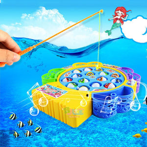 Electronic Magnetic Fishing Toy Fish Magnet Toy With Music Muscial Magnetic Juguetes Fishing Game Electric Plastic Fish Toys