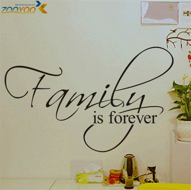family is forever home decor creative quote wall decals zooyoo8068 decorative adesivo de parede removable vinyl wall stickers