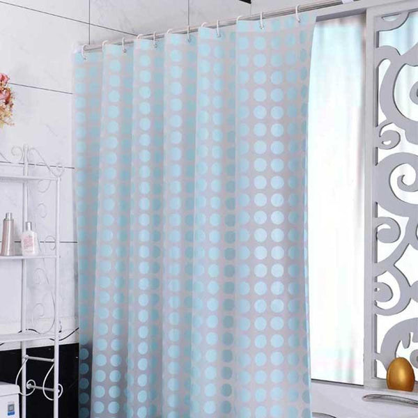 Fashion Blue PEVA Shower Curtain Waterproof Mold Proof Eco-friendly Endless Bath Curtain Bathroom Products