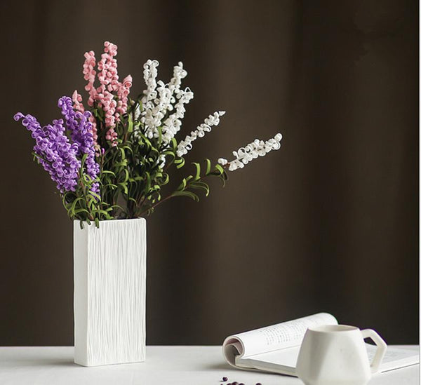 Fashion White Ceramic Flower Vase for Homes Decorative Vases Home Decoration Modern or Wedding Decoration Vaso