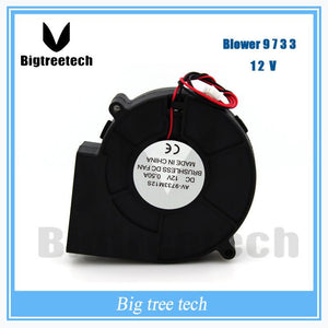 For 3d Printer Part Low Noise 97mm X 97mm X 33mm 9733 Dc Blower Fan 12v Turbo Fan 3d0027
