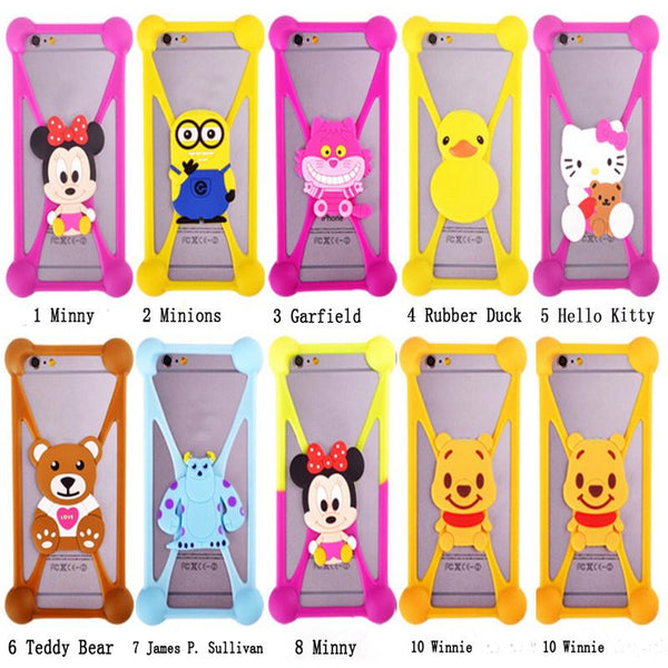 For Alcatel Pixi 4 Case 3D Garfield Minions Cover Fundas For Alcatel Fierce XL Silicon Minnie Anti-knock Case For Alcatel Pixi 4