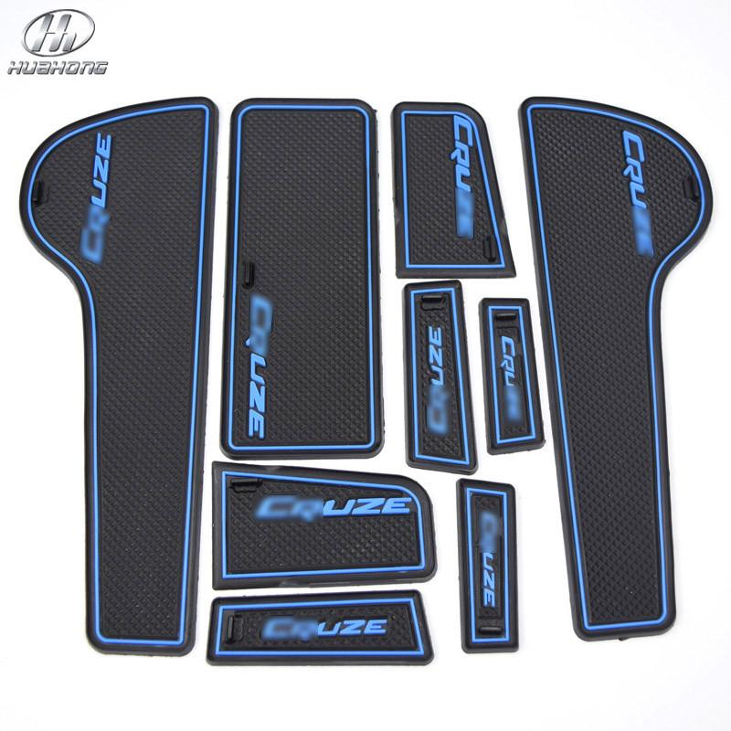 For Chevrolet CRUZE anti slip mat Door Groove Mat gate slot pad door carpets Interior decoration accessory products 2009-2014