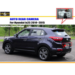 For Hyundai ix25 2014 2015 2016 2017 - Rear View Camera Back Up Park Camera HD CCD RCA NTST PAL License Plate Light OEM