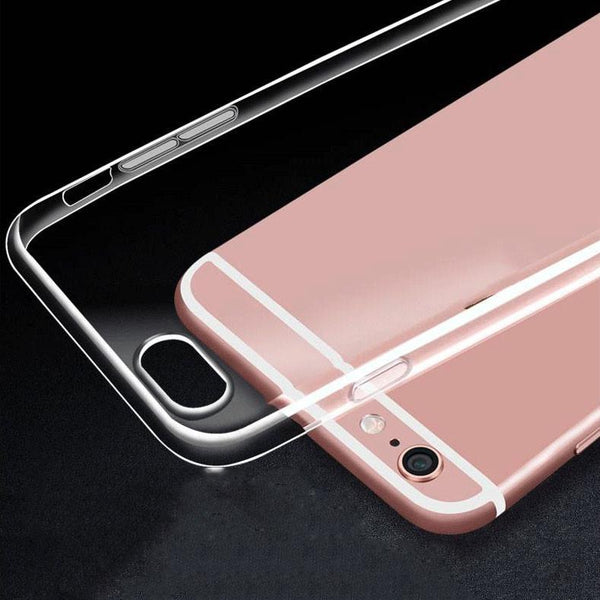For iPhone 7 Clear Case Soft TPU Back Cover For iPhone 7 7 plus 6 6S 6 plus 5 5S SE Plating Crystal Transparent Capa Case