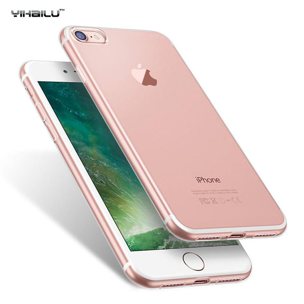 For iPhone 7 TPU Case Soft Crystal Clear Transparent Silicon Slim Thickening Back Cover For iPhone7 Plus Funda