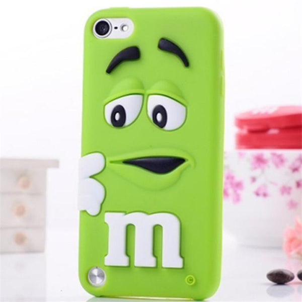 Fragrance M&M'S Chocolate 3D Cartoon Candy Rainbow Beans Soft Silicon Rubber Case for Samsung S5 S6 iPhone 4s 5S SE 6 6S Plus
