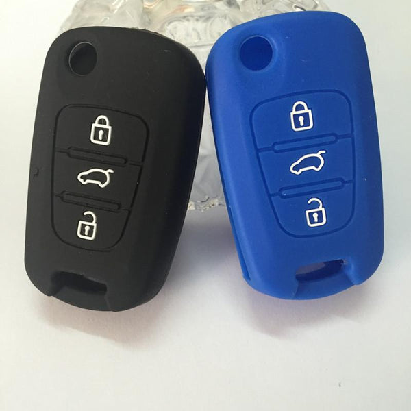 colorful silicon car key case for kia K2 K5 Sportage kia ceed filp key 3 buttons flip key cover