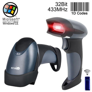 Wireless Barcode Scanner Reader Handheld 32bit High Scaned Speed Cordless Pos Bar Code Scan For Inventory Ntm2